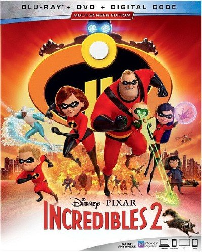 Суперсемейка 2 / Incredibles 2 (2018) HDRip/BDRip 720p/BDRip 1080p